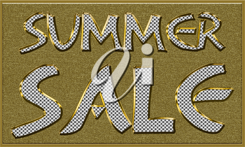 Summer Sales Seasonal Tag in Gold and Diamonds