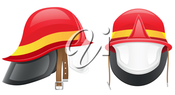 Royalty Free Clipart Image of a Firefighter Helmet