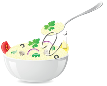 Royalty Free Clipart Image of Italian Rice