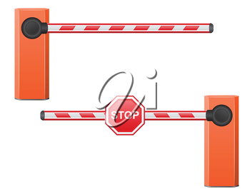 road barrier vector illustration isolated on white background