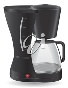 coffee maker vector illustration isolated on white background