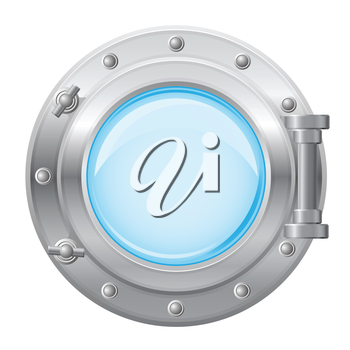 Royalty Free Clipart Image of a Porthole