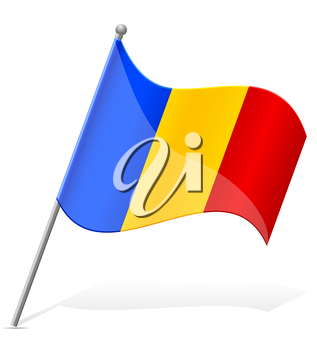 flag of Andorra vector illustration isolated on white background
