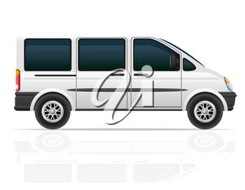 van for the carriage of passengers vector illustration isolated on white background