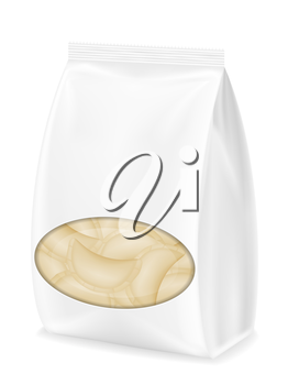 dumplings vareniki of dough with a filling in packaged vector illustration isolated on white background
