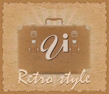 retro style poster old suitcase stock vector illustration
