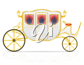 royal carriage for transportation of people vector illustration isolated on white background