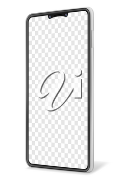 realistic smartphone blank mock up mobile phone for design vector illustration isolated on white background