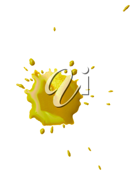 abstract blot yellow blobs on white background