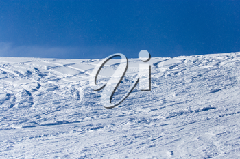 snow slope for skiing