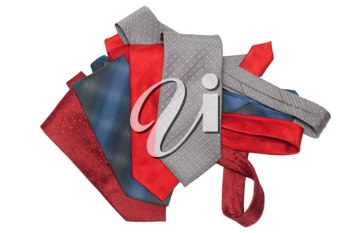 Royalty Free Photo of a Bunch of Neckties