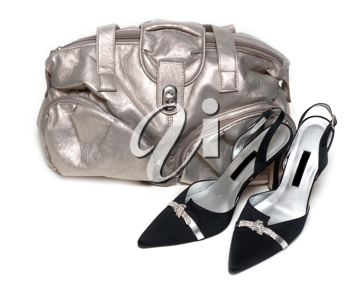 Royalty Free Photo of a Purse and Shoes