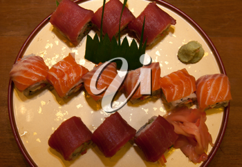 Royalty Free Photo of a Plate of Sushi