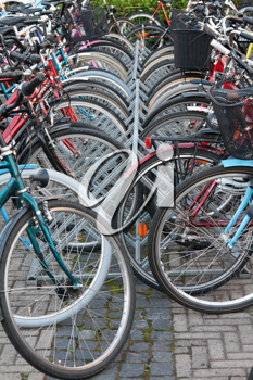 Royalty Free Photo of a Bunch of Bicycles