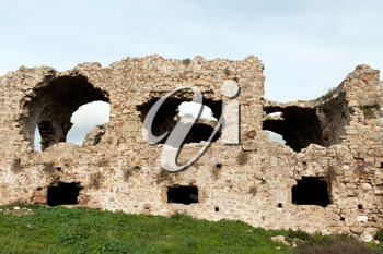 Royalty Free Photo of Ancient Ruins in Side, Turkey