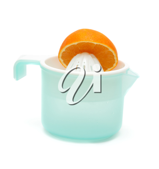 Royalty Free Photo of a Plastic Citrus Squeezer