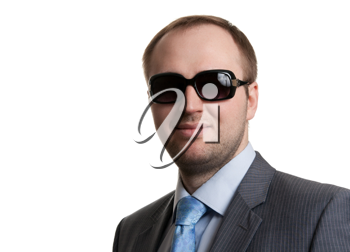 Royalty Free Photo of a Businessman in Sunglasses