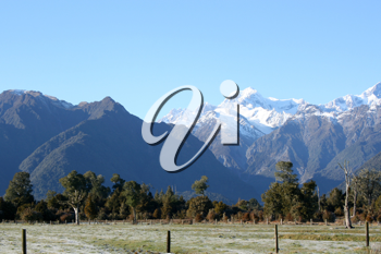 Royalty Free Photo of Mt. Cook in South Island, New Zealand