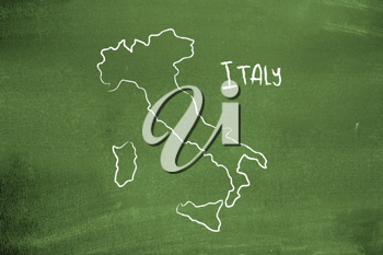Royalty Free Photo of a Map of Italy