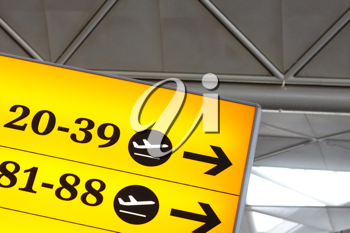 Royalty Free Photo of a Sign at an Airport