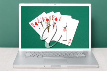 Royalty Free Photo of an Online Gambling Concept
