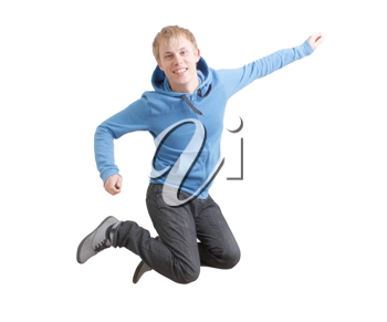 Royalty Free Photo of a Jumping Teenager