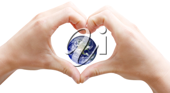 Royalty Free Photo of a Love the Planet Concept