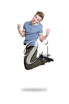 Royalty Free Photo of a Teenager Jumping