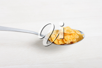 Royalty Free Photo of a Spoonful of Cornflakes
