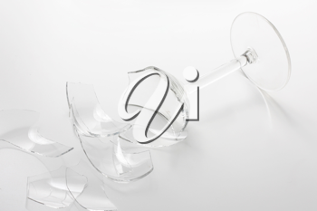 Royalty Free Photo of a Shattered Wineglass