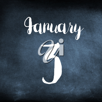 January 3 concept