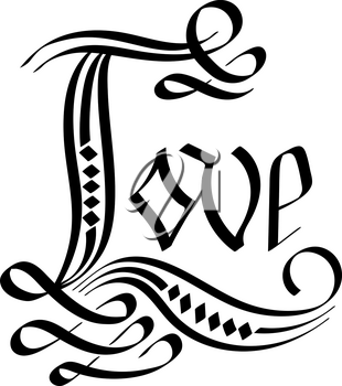 Vector Love Hand Lettering. Hand Script. Modern Calligraphy