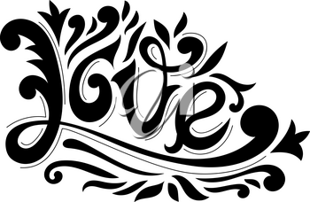 Vector Hand Drawn Love Lettering