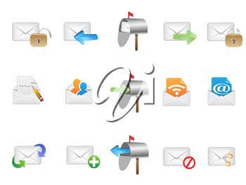 Royalty Free Clipart Image of Email Icons