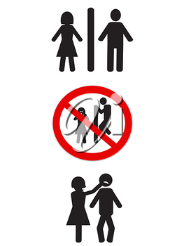 Royalty Free Clipart Image of Bathroom Signs