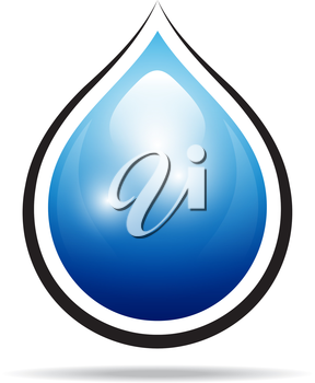 Royalty Free Clipart Image of a Water Drop