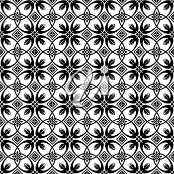 Royalty Free Clipart Image of am Abstract Floral Background