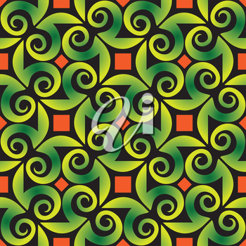 Royalty Free Clipart Image of an Abstract Background in Green and Orange