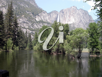 Royalty Free Photo of Yosemite Falls And Merced River
