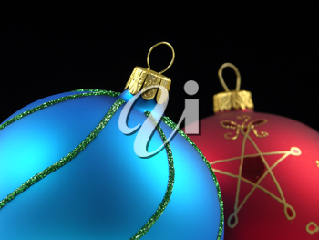 Royalty Free Photo of Christmas Ornaments