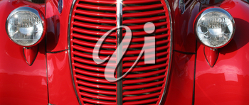 Royalty Free Photo of a Classic 1939 Ford Grill