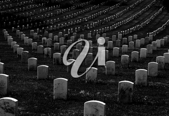 Royalty Free Photo of a National Cemetery