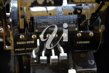 Royalty Free Photo of a Boeing B17 Aircraft Throttle