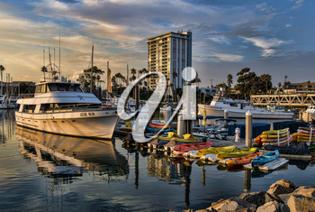 Royalty Free Photo of Boats at a Dock