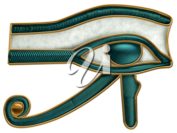 Royalty Free Clipart Image of an Ancient Egyptian Eye