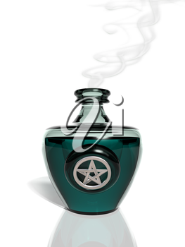 Royalty Free Clipart Image of a Bottle of Potion