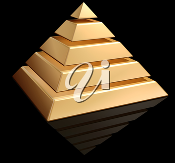 Royalty Free Clipart Image of a Pyramid