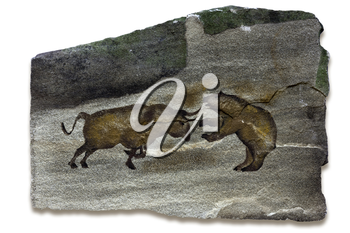 Primitive cave art depicting the bull and bear markets