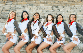 Royalty Free Photo of Female Dancers