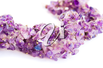Royalty Free Photo of an Amethyst Necklace